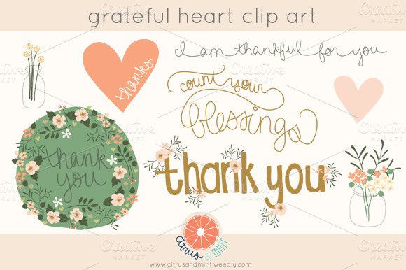 Grateful Heart Clip Art