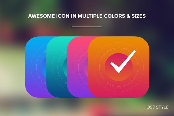 IOS 7 Style Icon