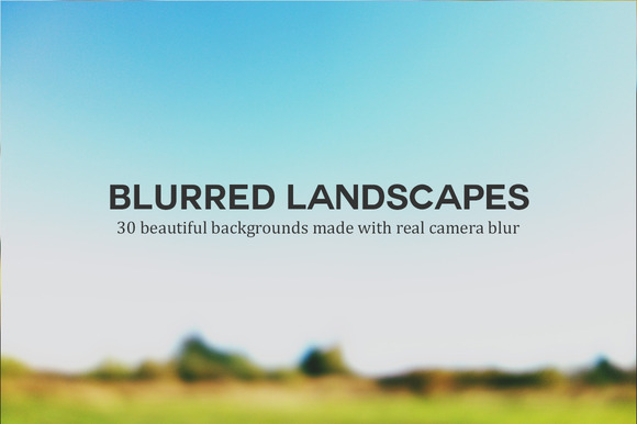 30 Beautiful Blurred Landscapes