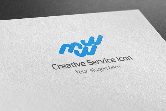 Creative Service Icon Logo