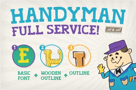 Handyman Font Full Service