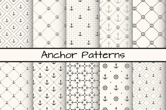 10 Anchor Monochrome Patterns