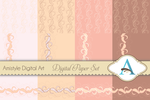 Rowpattern Floral Background