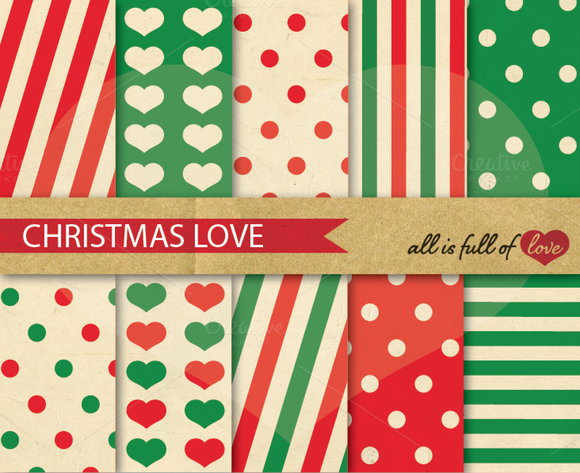 Christmas Love Backdrop Paper Pack