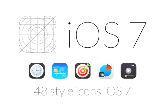 48 Style Icons IOS 7