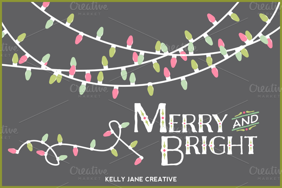 Pastel Christmas Lights- Vector