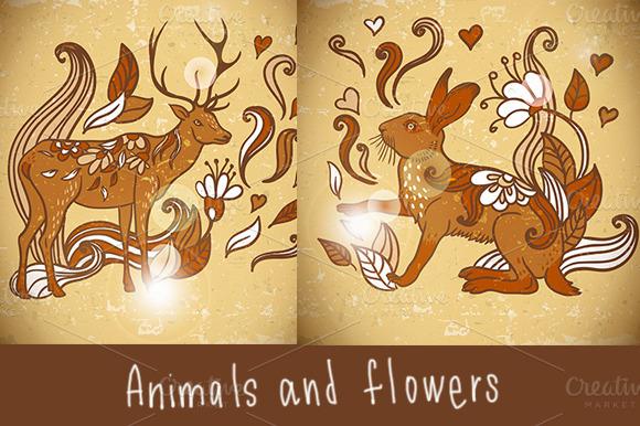 Animal Background Pattern With Swirl