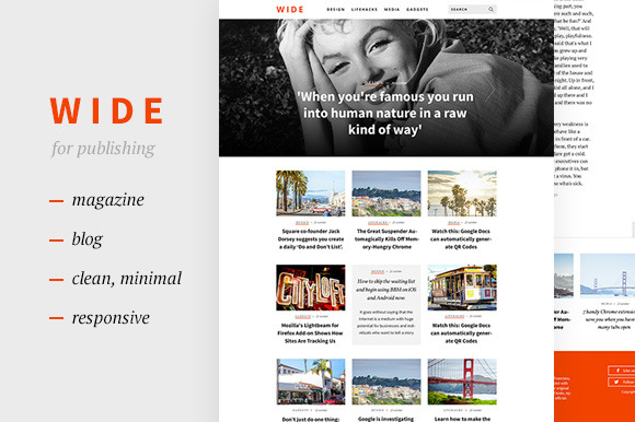 WIDE Magazine Blog Template