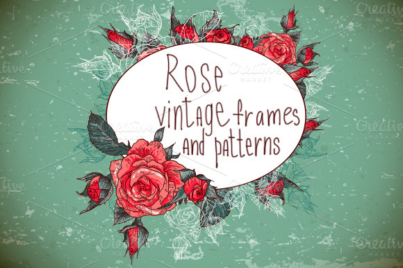Retro Background With Rose