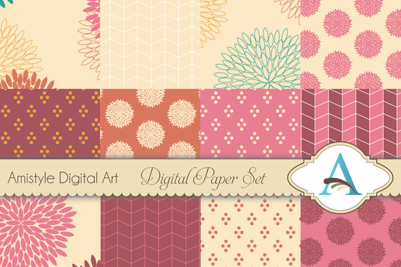 Seamless Floral Pattern Set