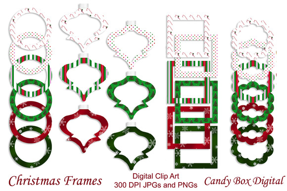 24 Christmas Digital Frames