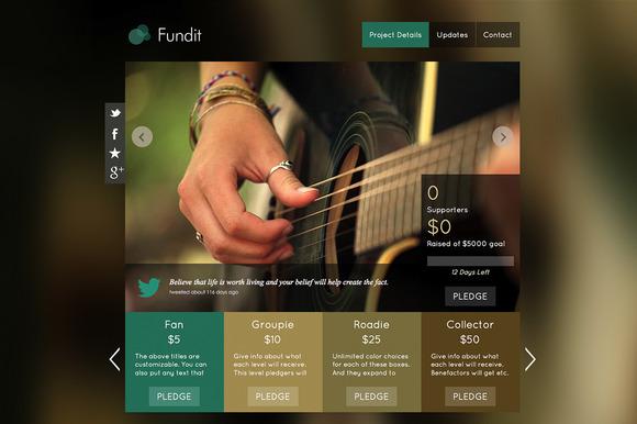 Fundit OnePage Crowdfunding Theme