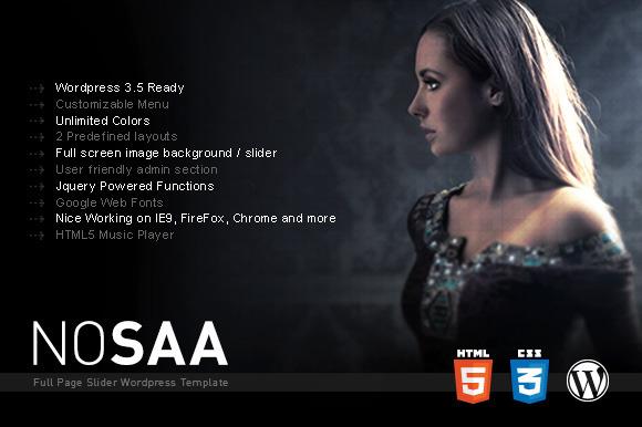Nosaa Fullpage WordPress Theme