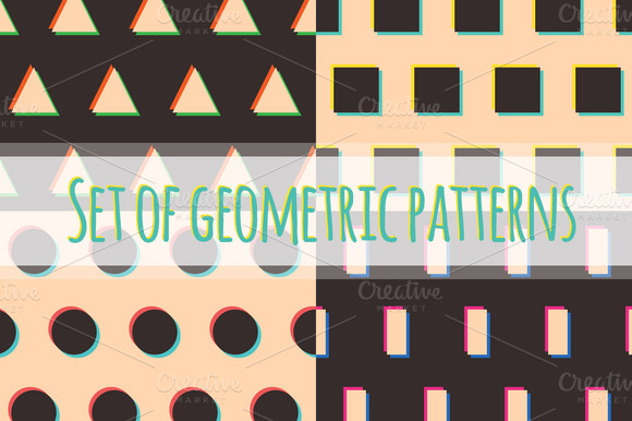 Set Of Geometric Patterns