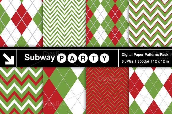 Christmas Chevron Argyle Patterns
