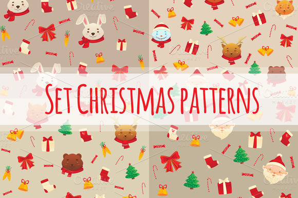 Set Christmas And New Year S Pattern