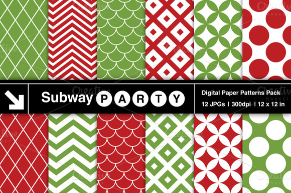 Xmas Retro Geometric Patterns