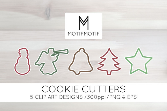 Holiday Cookie Cutter Clipart