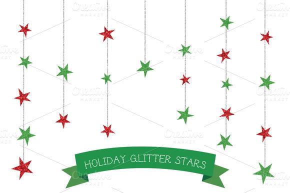 Christmas Glitter Stars
