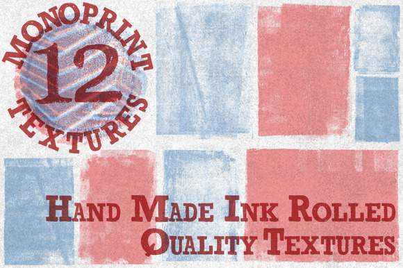 Vintage Handmade Monoprint Textures