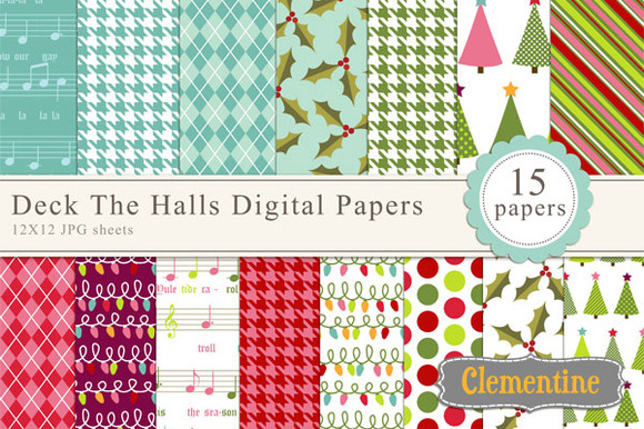 Deck The Halls Digital Paper