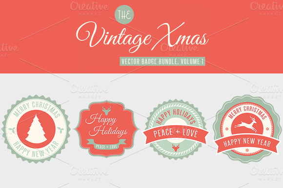 Christmas Vector Badge Bundle Vol 1