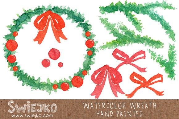 Watercolor Wreath Christmas Ornament