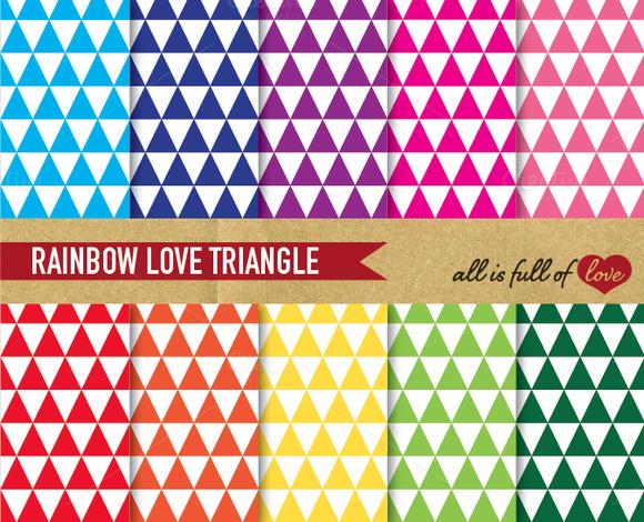 Rainbow Triangle Patterns