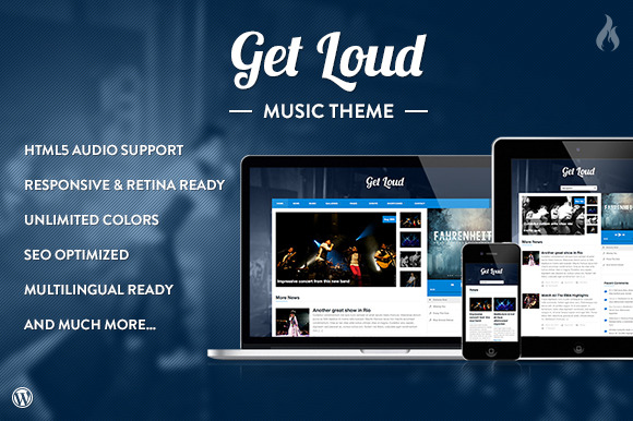 Get Loud Music WordPress Theme