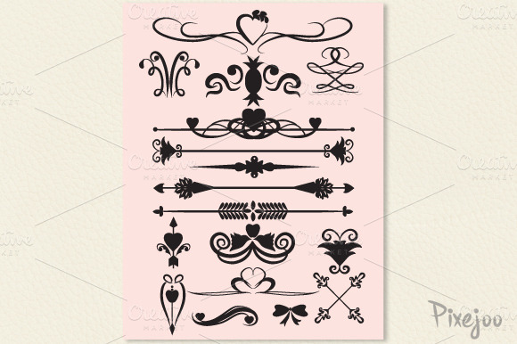 17 Page Dividers Clipart #3