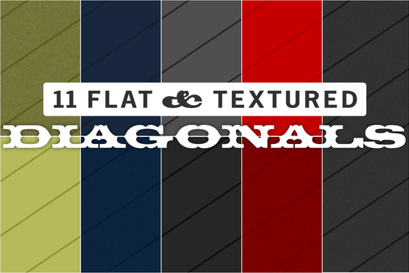 11 Flat Textured Diagonal Patterns
