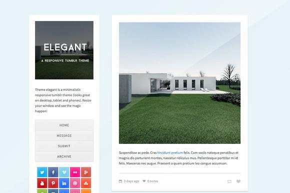 Elegant Minimalistic Tumblr Theme