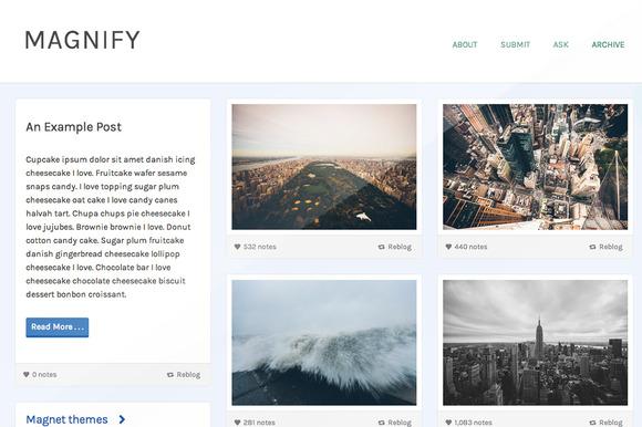 Magnify Responsive Tumblr Theme