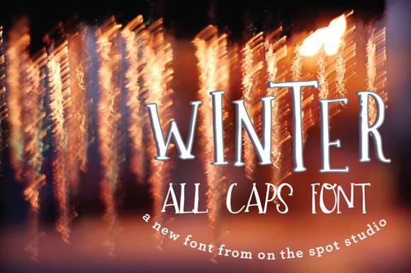 Winter A Quirky All Caps Font
