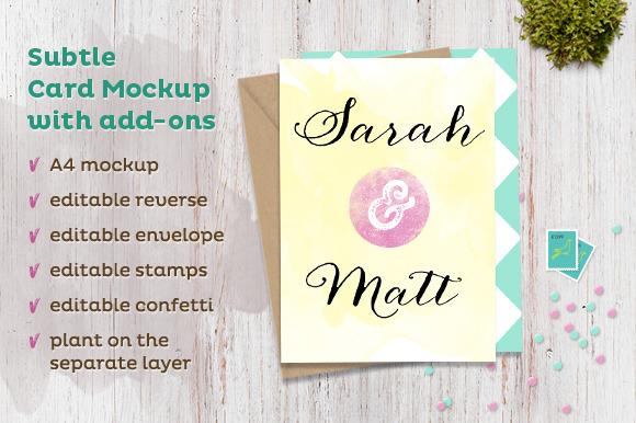 Subtle Card Mockup W Add-ons