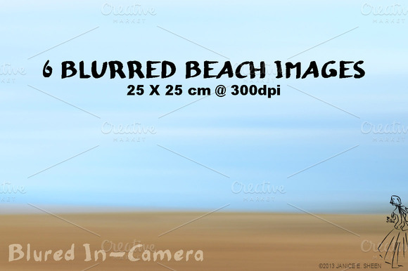 6 Beach Motion Blur Textures