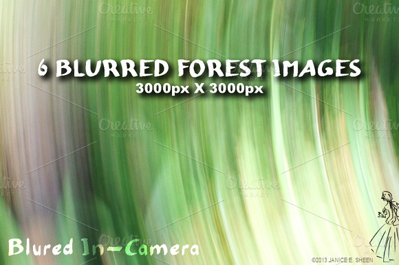 6 Motion Blur Textures Forest Set 1
