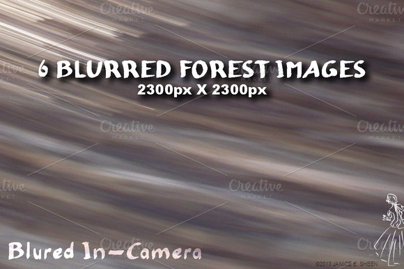6 Motion Blur Textures Forest Set 2