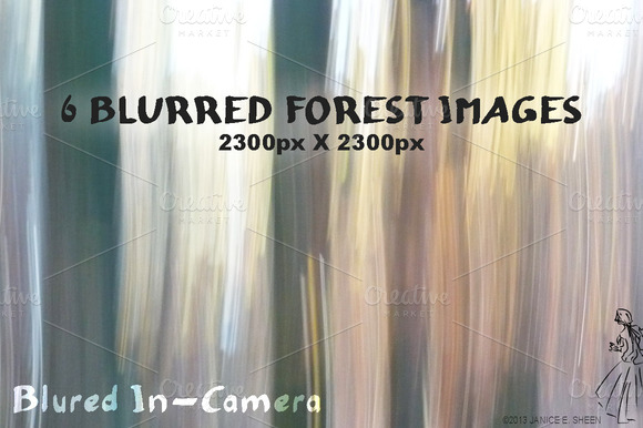 6 Motion Blur Textures Forest Set 3