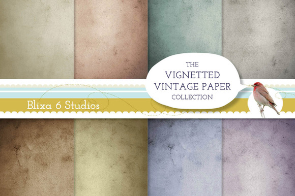 Vintage Paper Vignetted Backgrounds