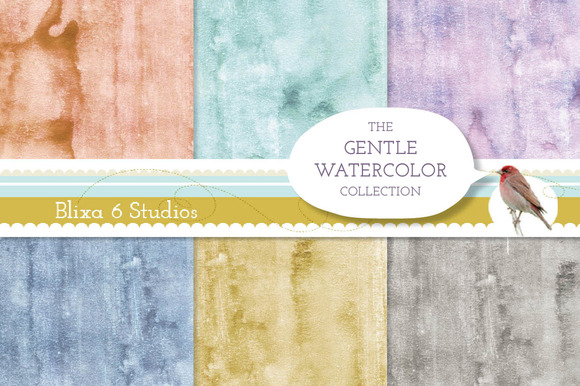 Gentle Watercolor Backgrounds