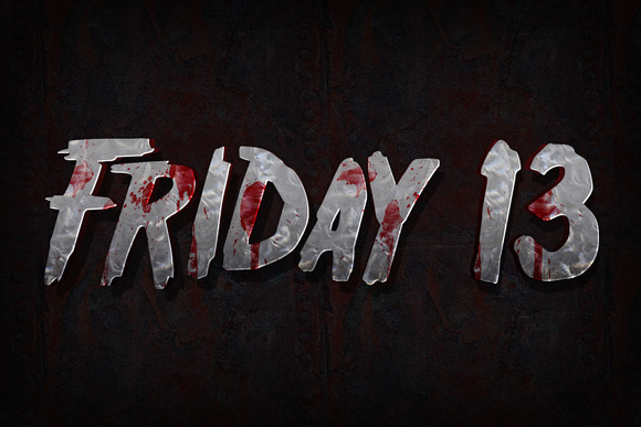 Horror Movie 3D Text For Photoshop