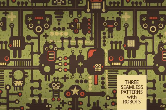 3 Robots Patterns