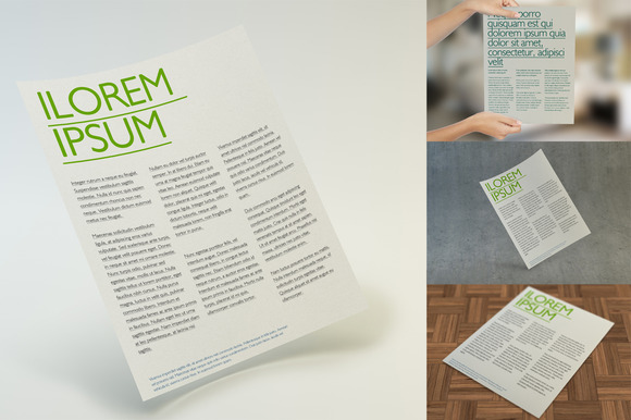 Multipurpose Letter Flyer Mockup