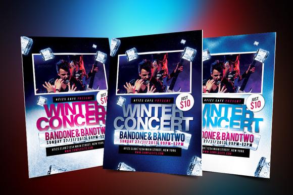 Winter Music Concert Flyer