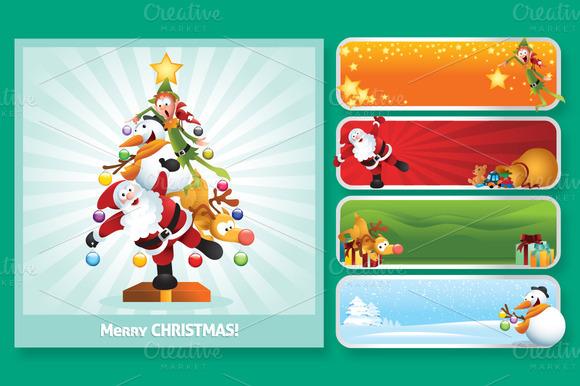 Fun Christmas Character Collage Set