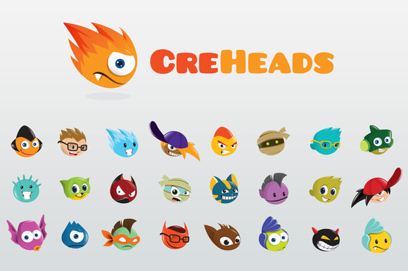 CreHeads Fun Creature Heads Logo
