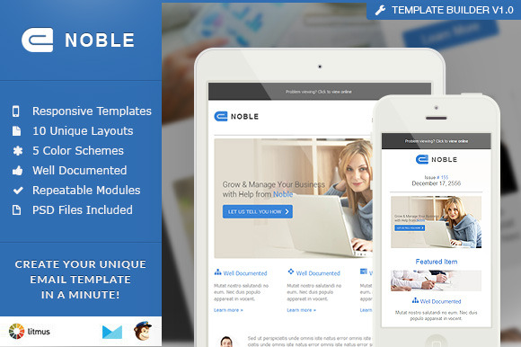 Noble Responsive Email Builder