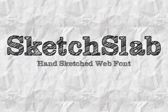 SketchSlab Web And Desktop Font