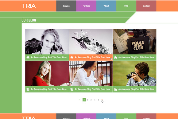 TRIA Single Page PSD Theme